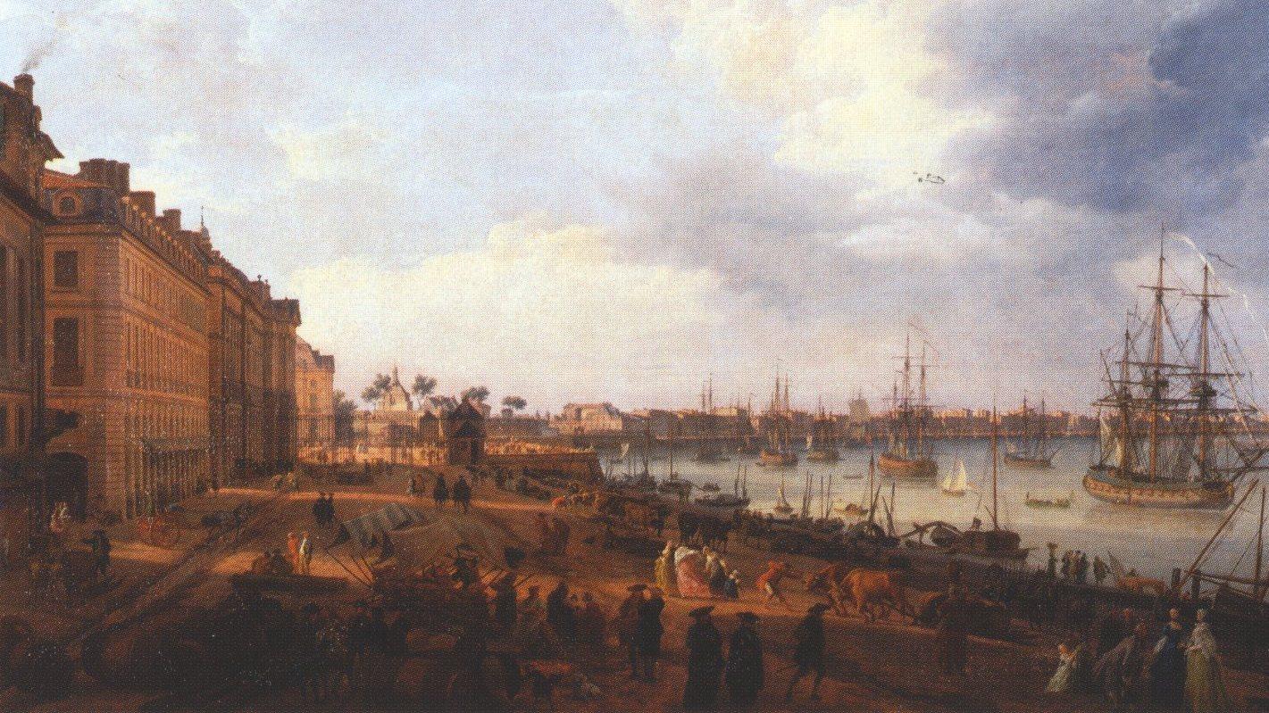 Bordeaux 300 lat temu racjonalista tv - Vue du port de bordeaux joseph vernet ...